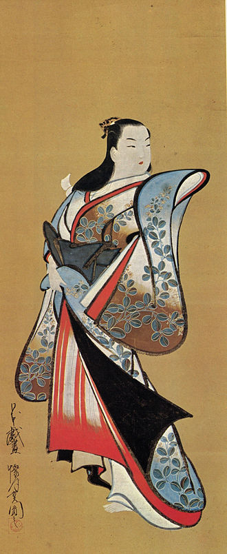 Bijin - A bijinga painting of a courtesan, by Kaigetsudō Ando, c. 1700 - 1720.