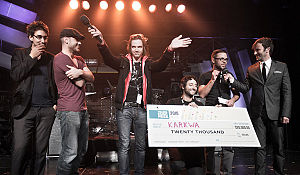 Karkwa - Karkwa receiving the 2010 Polaris Music Prize (Photo: Dustin Rabin)