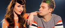 Karmin on Walmart Soundcheck Risers - July 2012 (7488098086).jpg