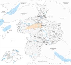 Karte von Bern