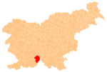 The location of the Municipality of Loška Dolina