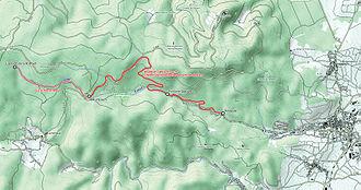 Forest Railway Welschbruch - Image: Karte Waldeisenbahn Welschbruch