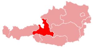 Zell am See District - Image: Karte oesterreich salzburg