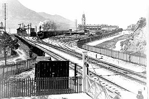 Kowloon Station (KCR) - A train departing from Kowloon Station, picture taken in 1916.