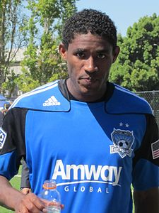 Khari Stephenson at Galaxy at Earthquakes 2010-08-21 1.JPG