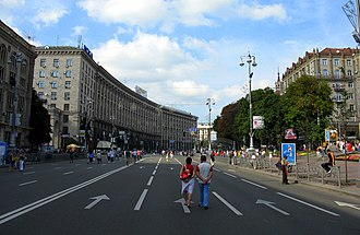 Khreshchatyk - Khreshchatyk, closed to traffic during the weekends, becomes a pedestrian zone.