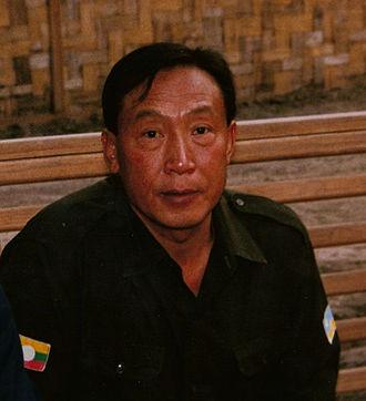 Khun Sa - Khun Sa at his jungle headquarters in Myanmar (Burma), 1988
