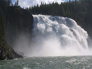 Tumbler Ridge - Kinuseo Falls in the Monkman Provincial Park