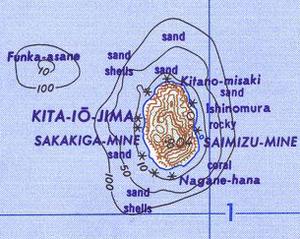 North Iwo Jima - Map of Kita-Iwō-jima