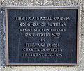 Knights of Pythias historical marker - N side - J Edgar Hoover Building - Washington DC - 2012.jpg