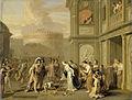 Koningin Kleophis biedt Alexander de Grote wijn aan na de verovering van Mazagae Rijksmuseum SK-A-162.jpeg