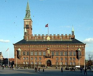 Copenhagen Municipality - Copenhagen City Hall, situated on City Hall Square