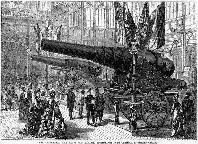 Krupp Exhibit - 1876 Centennial Exhibition - Philadelphia - print
