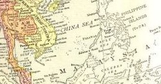 "Malaysia - ""Malaysia"" used as a label for the Malay Archipelago on a 1914 map from a United States atlas"