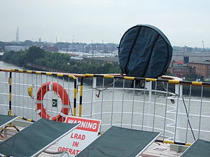 long range acoustic device (LRAD) on board QM2
