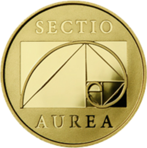 Golden spiral - Lithuanian coin