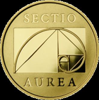 Golden spiral - Lithuanian coin
