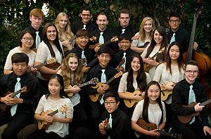 Langley Ukulele Ensemble - The Langley Ukulele Ensemble in 2015.