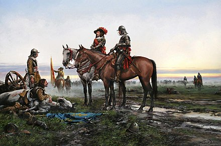"""The Battle of Valenciennes"" Painting by Augusto Ferrer-Dalmau La batalla de Valenciennes.jpg"