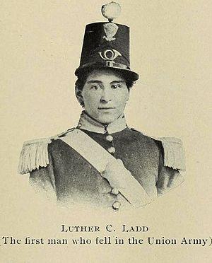 6th Regiment Massachusetts Volunteer Militia - Image: Ladd, Luther