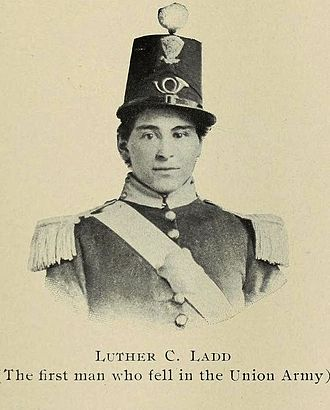 6th Regiment Massachusetts Volunteer Militia - Private Ladd of the 6th Massachusetts was the first Union soldier killed in action during the Civil War.