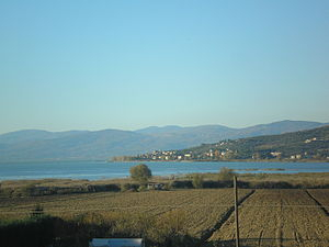 Lake Trasimeno view, Umbria (Italy)