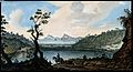 Lake Avernus (Lago d'Averno) and environs. Coloured etching Wellcome V0025274.jpg