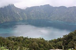 Mount Melibengoy stratovolcano on Mindanao island in the Philippines