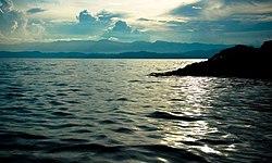 Kivusøen nær bukavu , i congo