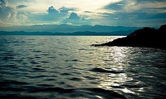 Bukavu - Lake Kivu, seen from Bukavu