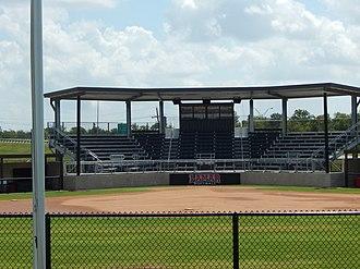Lamar Softball Complex - Image: Lamar Softball Complex Grandstands