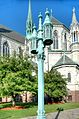 Lamp on street at Sacred Heart Cathedral, Newark.jpg