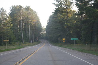 Langlade County, Wisconsin - Looking south while entering Langlade County on WIS 55.