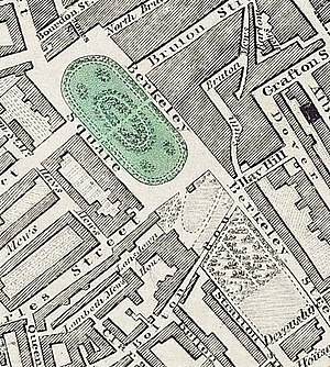 Lansdowne House - Lansdowne House is shown on this 1830 map.