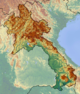 Laos location map Topographic.png