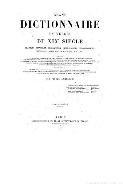 File:Larousse - Grand dictionnaire universel du XIXe siècle - Tome 8, part. 1, F-Fi.djvu
