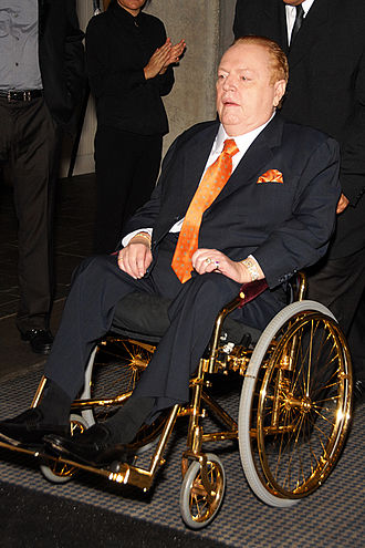 Larry Flynt - Larry Flynt in his gold-plated wheelchair in 2009