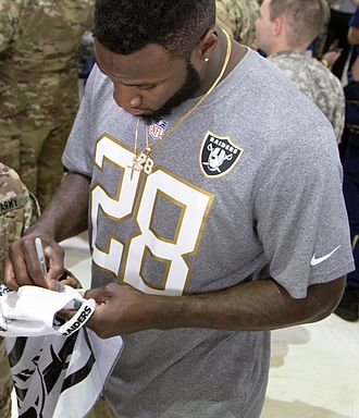 Latavius Murray - Murray at the 2016 Pro Bowl, during his time with the Oakland Raiders