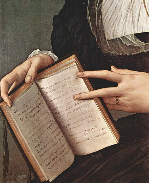Fichier:Laura Battiferri by Angelo Bronzino - detail.jpg