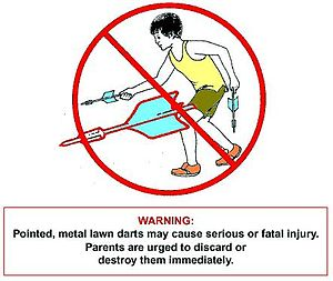 Lawn darts - Image from U.S. Consumer Product Safety Commission notice