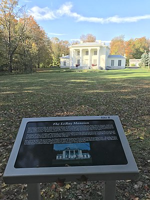 LeRay Mansion - Image: Le Ray Masion in Fort Drum NY with info plaque