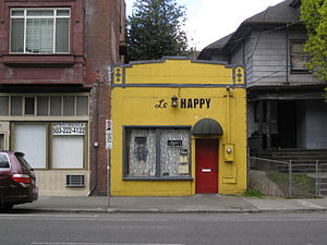 Le Happy - The crêperie's exterior in 2008