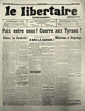 El libertariodel1de agostode1914, último número antes de laPrimera Guerra Mundial.
