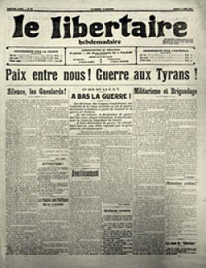 Le Libertaire - Image: Le Libertaire 1er août 1914