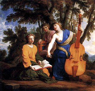 Muses - The Muses Melpomene, Erato, and Polyhymnia, by Eustache Le Sueur