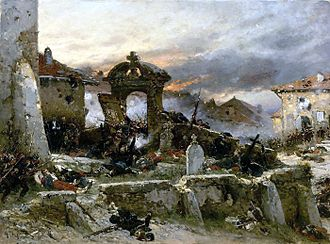 François Certain Canrobert - The Battle of Saint-Privat (A. de Neuville, 1881)