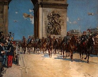 Victory parade - Le défilé de la Victoire, le 14 juillet 1919, by François Flameng