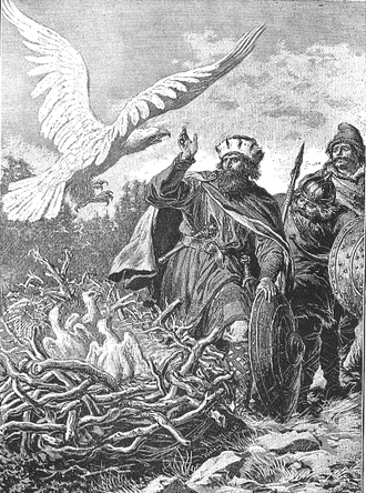 Lech, Czech, and Rus - Lech, Czech, Rus and the White Eagle, as painted by Walery Eljasz-Radzikowski (1841–1905)