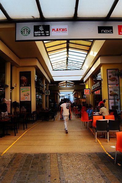File:Ledra Street modern arcade Mcdonalds Cinnabon Starbucks Next Nicosia Republic of Cyprus.jpg