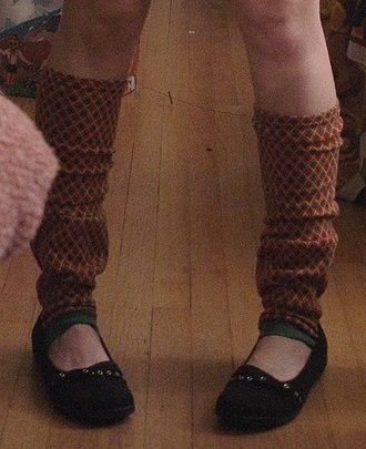Leg warmer - Leg warmers worn as fashion pieces.